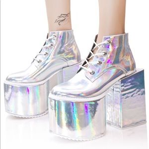 YRU Brilliance Hologram Platform Shoes
